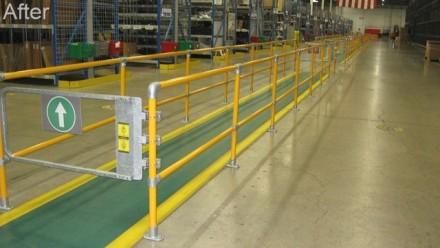 护栏如何使仓库走道更安全