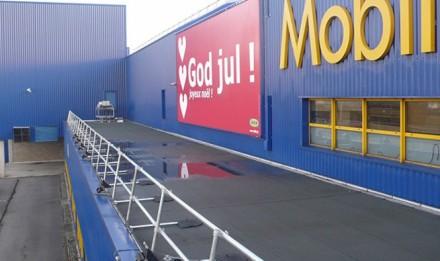 KeeGuard自立式护栏系统在宜家(IKEA)中的应用