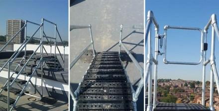 定制化屋顶过桥梯平台